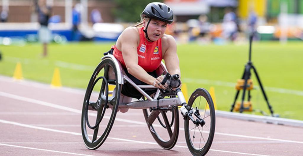 Rullstolslöparen Amanda Kotaja är en av Finlands medaljhopp i Tokyo